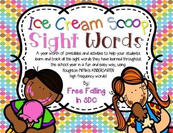 Ice Cream Scoop Sight Words ( Houghton Mifflin KDG edition )