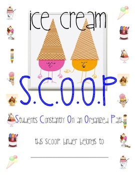 Ice Cream Scoop Theme Binder Cover