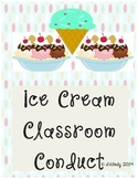 Ice Cream Scoop Themed Conduct Chart and Reward Cards