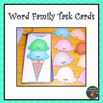 Summer Word Family Task Cards