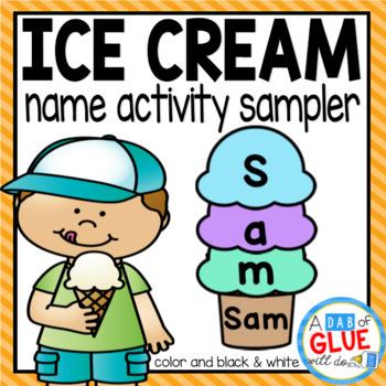 Ice Cream Scoops: Names Activity