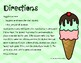 Ice Cream Scoops Roll and Cover Kindergarten Sight Words