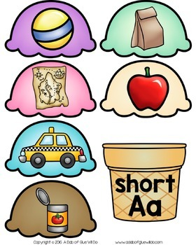 Ice Cream Scoops: Vowels