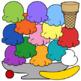 Ice Cream Scoops and Sundae Patterns