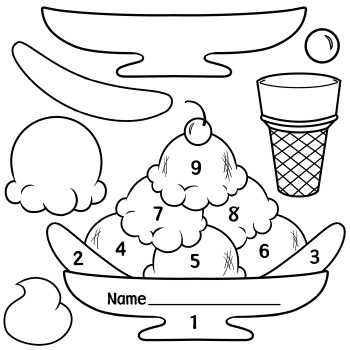 photo relating to Printable Ice Cream Scoops identified as Ice Product Scoops and Sundae Practices