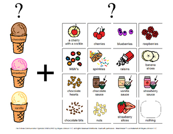 """""""Ice Cream Scoops of Fun"""" Spanish and English Communication Boards"""