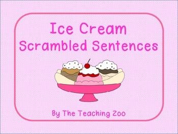 Ice Cream Scrambled Sentences