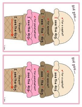 Ice Cream Sentence Parts
