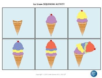 FREE Ice Cream Sequencing Activity Freebie