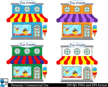 Ice Cream Set Clipart Digital Clip Art Graphics 87 images cod93