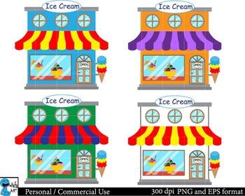 Ice Cream Set Clipart Digital Clip Art Graphics 87 images cod93