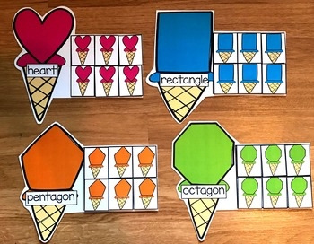 Ice Cream Shapes Sorting Mats