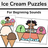 Ice Cream Shop Beginning Sounds Matching Activity