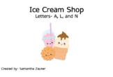 Ice Cream Shop Braille File Folder Game