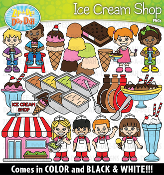 Ice Cream Shop Clipart Set {Zip-A-Dee-Doo-Dah Designs}