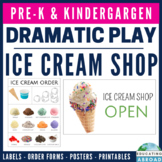 Ice Cream Shop Dramatic Play (using realistic pictures)
