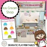 Ice Cream Shop Dramatic Play / Pretend Play Printables