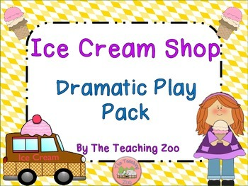 Ice Cream Shop Dramatic Play Pack