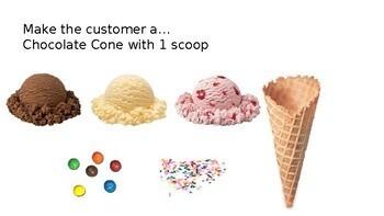 Ice Cream Shop Virtual Work Task