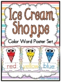 Ice Cream Shoppe | Bright Pastels | Color Words Poster Set