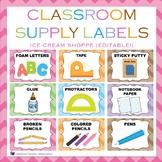 Ice Cream Shoppe Classroom Supply Labels {EDITABLE!}