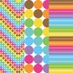 Ice Cream Shoppe Digital Background Papers in Chevron, Polka Dots, and Stripes