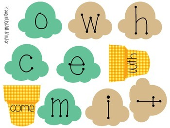 Ice Cream Sight Word Builders