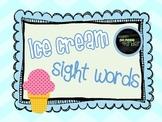 Ice Cream Sight Word Builders