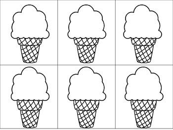 Ice Cream Sight Word Matching Game