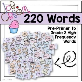 Ice Cream Sight Word Games - Bundled
