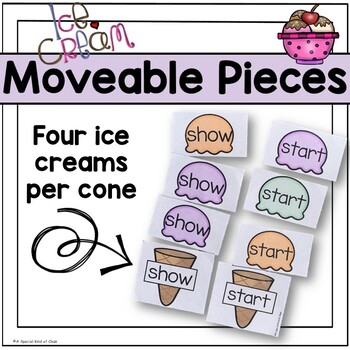 Ice Cream Sight Word Game - Grade Three Dolch List