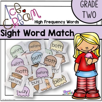 Ice Cream Sight Word Game - Grade Two Dolch List