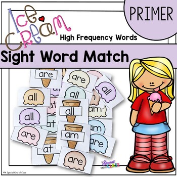 Ice Cream Sight Word Game - Primer Dolch List