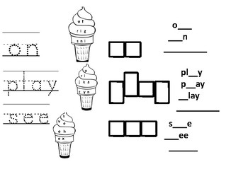 Ice Cream Sight Words and Chunks
