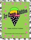 Ice Cream Simple Addition WS