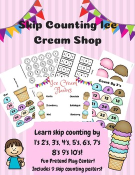 Ice Cream Skip Counting Play Shop Center