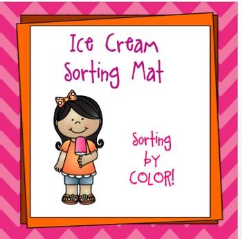 Ice Cream Sorting Mat... FREEBIE!