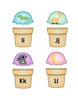 Ice Cream Spanish Alphabet Cards - Tarjetas de helado del alfabeto