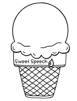 Ice Cream Speech Craft (articulation language) Craftivity