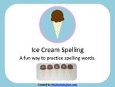 Ice Cream Spelling Freebie