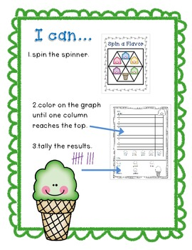 Ice Cream Spin, (or Roll) Tally and Graph