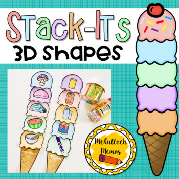 Ice Cream Stack Its- 3D Shapes