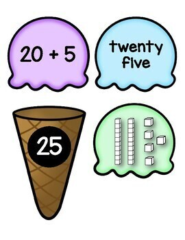 Ice Cream Stack Its- Two Digit Expanded Form