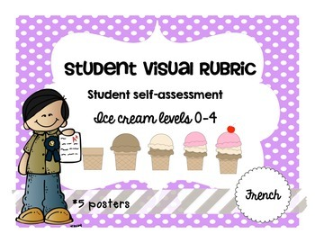 Ice Cream Student Visual Rubric Assessment Achievement French