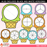 Ice Cream Summer Spinners Clip Art
