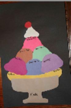 Ice Cream Sundae Book Project