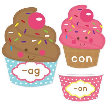 Ice Cream Sundae CVC Word Families