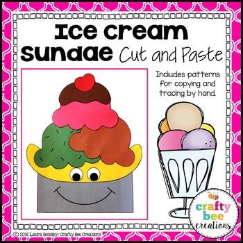 Ice Cream Sundae Cut and Paste