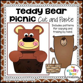 Teddy Bear Picnic Cut and Paste
