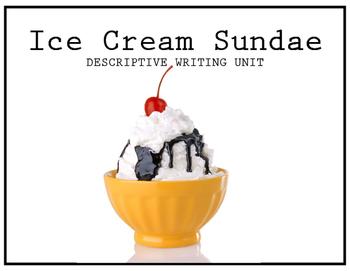 Ice Cream Sundae Descriptive Writing for Special Education